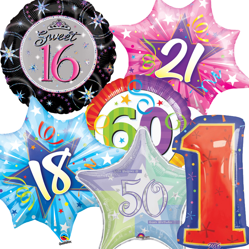 Age Foil Balloons